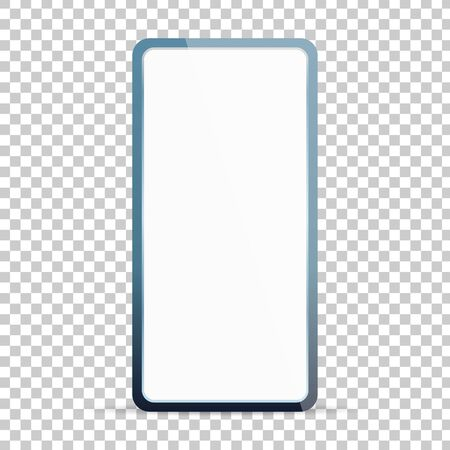 blank screen smartphone isolated on transparent background vector