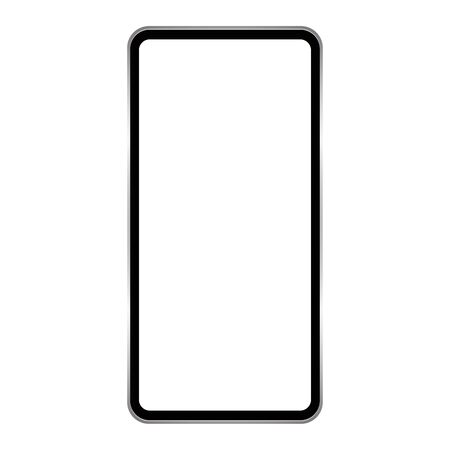 blank screen smartphone isolated on white background vector Ilustrace