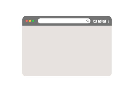 grey web browser isolated on white background vector Ilustrace