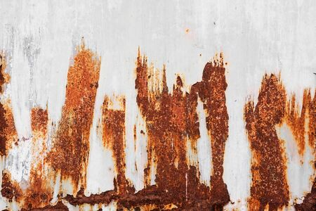 Metal rusty on old wall textured background