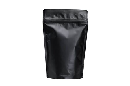 Foil pouch with zipper and plastic ,Coffee bag packaging isolated on white background