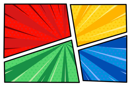 flat comic style wallpaper background vector