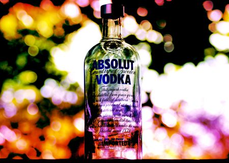 Picture of Absolut Vodka bottle.