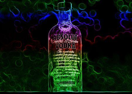 Image de bouteille Absolut Vodka. Banque d'images - 7307959