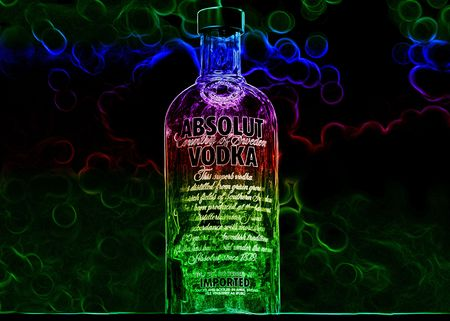 Picture of Absolut Vodka bottle.