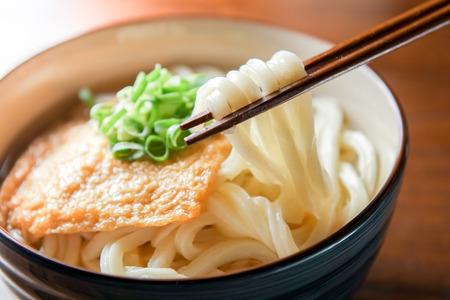 Kitsune udon. Japanese food. Stockfoto