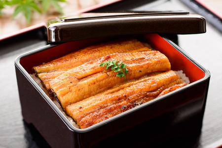 Unaju. Japans eten. Broiled paling en rijst.