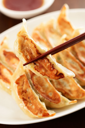 Japanese grilled dumplings Stock Photo