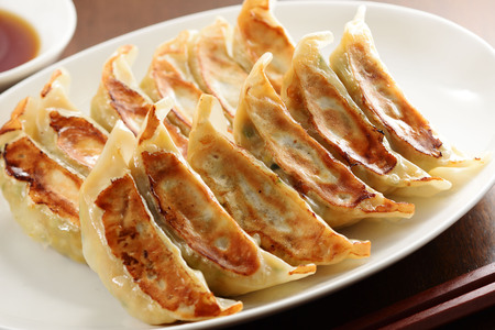 Japanese grilled dumplings Foto de archivo