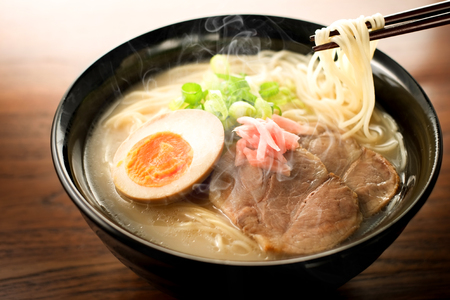 Japanese ramen noodle Stock Photo