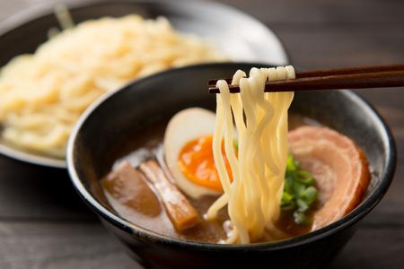 Tsukemen. Japanese dipping ramen noodle. Zdjęcie Seryjne