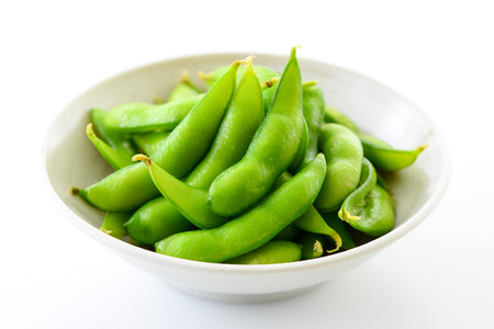 cooked green soybeans 版權商用圖片