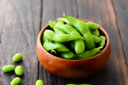 cooked green soybeans Zdjęcie Seryjne