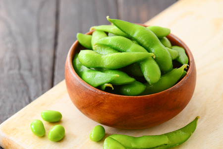 cooked green soybeans Stock fotó
