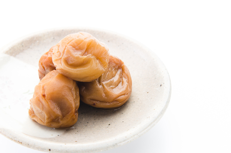 Umeboshi. Japanese pickled plum.
