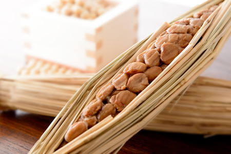 Natto. Japanese fermented soybeans. Zdjęcie Seryjne