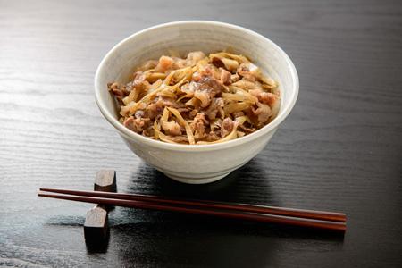 Gyudon. Japanese beef bowl.