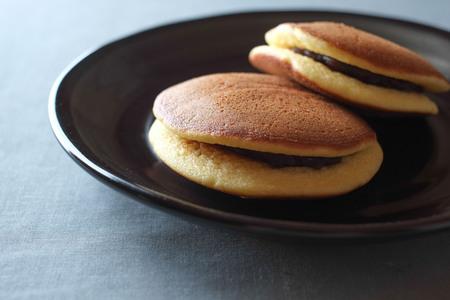 Dorayaki.Japanese bean jam pancake.