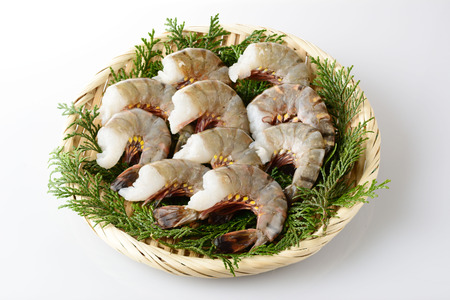 Black tiger shrimp Stock Photo