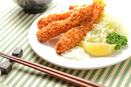 Fried Prawn Stock Photo
