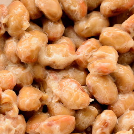 Natto. Japanese fermented soybeans. Stock Photo - 83963416