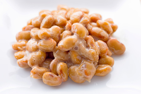 Natto. Japanese fermented soybeans. Stock Photo