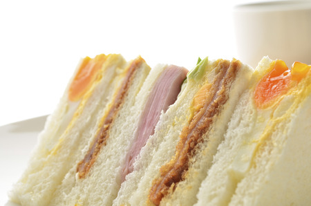 Sandwich on the desk Stock Photo