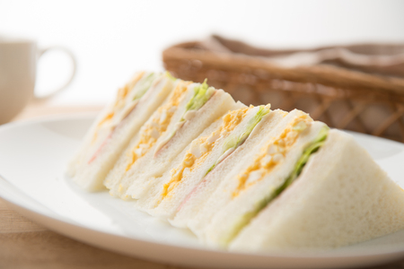Sandwich on the plate Stock Photo - 84412235