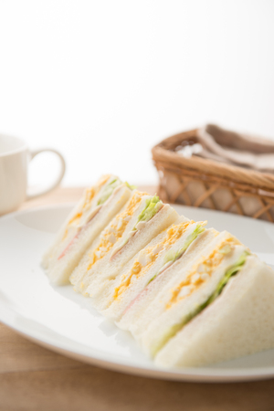 Sandwich on the plate Stock Photo - 84412236