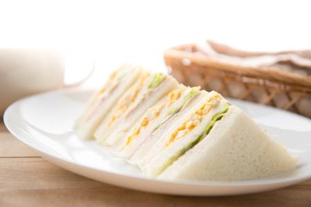 Sandwich on the plate Reklamní fotografie