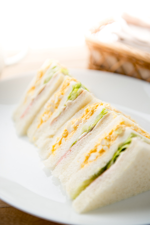 Sandwich on the plate Stock Photo - 84412237