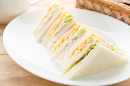 Sandwich on the plate Stock Photo - 84412238