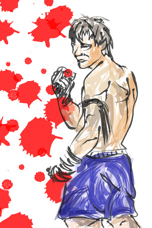 Muay Thai is a martial art of Thailand photo