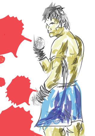 muay thai: vector  Muay Thai is a martial art