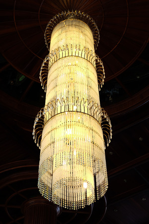 Contemporary glass chandelier photo