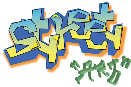 Vector Graffiti street art Stock Illustratie