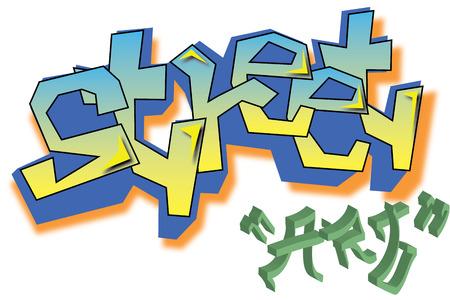 graphiti: Vector Graffiti street art Illustration