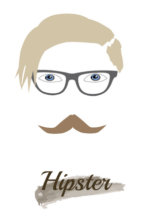 philosophy of music: Vector Hipster style Illustration