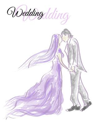Vector Wedding in love Vector
