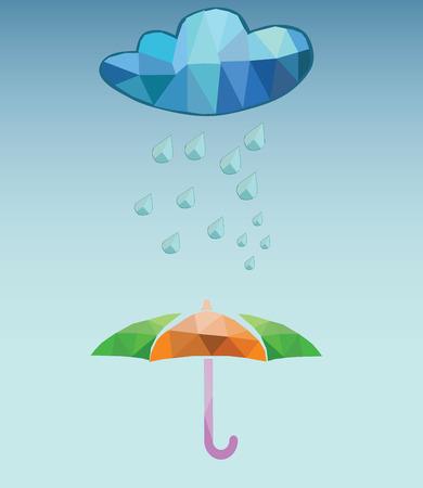 rainy season: vector rainy day Illustration