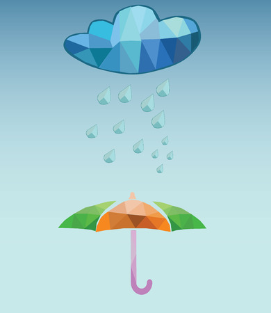 vector rainy day Vector