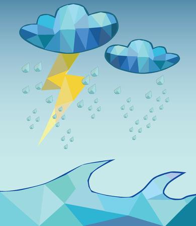 vector hard rain poly style Vector