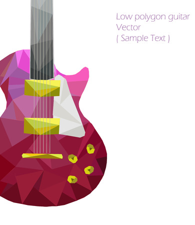 songwriter: Vector guitar polygon  style