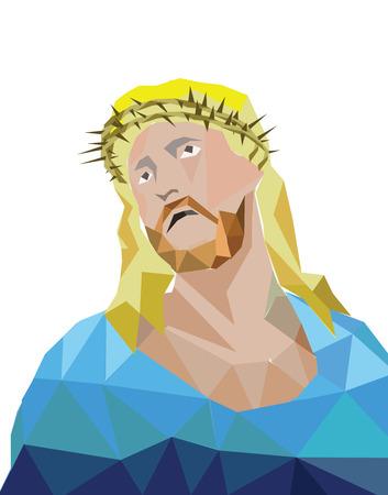 Vector Jesus polygon Vector