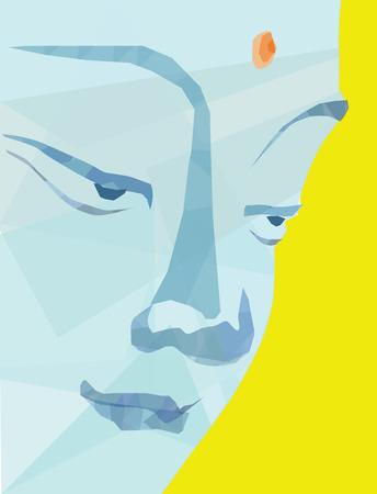 stare: Buddha face vector