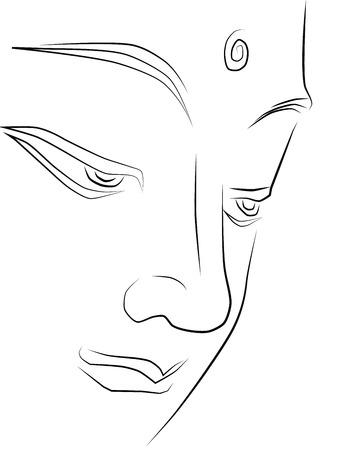 buddha tranquil: Buddha face vector