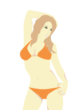sexy girls: vector  bikini girl Illustration