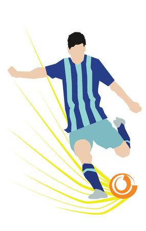 striker: Abstract Soccer Player Scoring