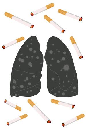 smoking kills: No smoking concept