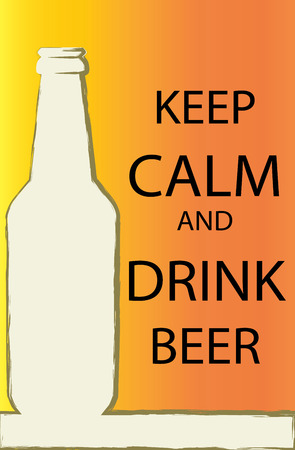 cerveza: Vector - Poster of Keep Calm And Drink Beer.
